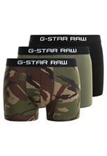 GStar TACH TRUNK CAMO 3 PACK Bokserit black/sage/bright rovic green