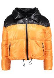 Missguided Petite COCOON EXTREME TONE BUBBLE COAT Talvitakki black/orange
