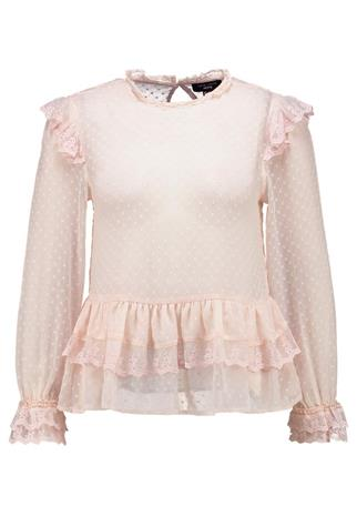 New Look Petite NLDOBBY LACE FRILL Pusero shell pink