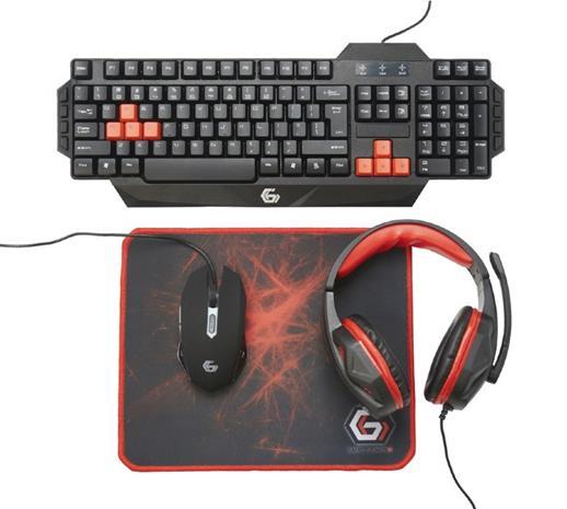 Gembird Ultimate 4-in-1 Gaming Kit (näppäimistö, hiiri ja kuulokkeet)