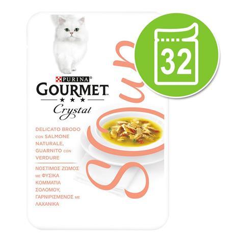 Gourmet Soup -säästöpakkaus 32 x 40 g - lohi & kasvikset