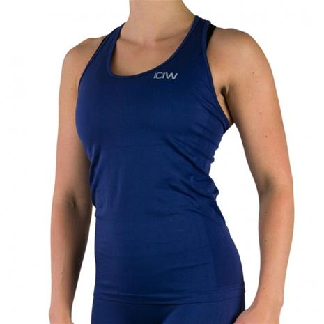 ICANIWILL Seamless Tank Top, Navy