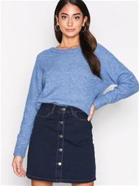 Vero Moda Vmmaya A-Shape Short Denim Skirt Sh Midihameet Tummansininen