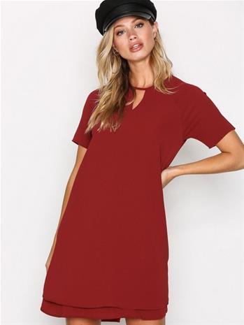 Only onlMARIANA Myrina S/S Dress Noos Wv Mekot Tummanpunainen