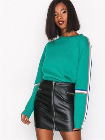 Only onlTRACEY Faux Leather Skirt Otw Minihameet Musta