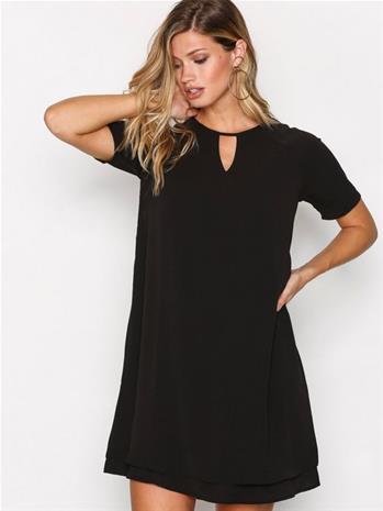 Only onlMARIANA Myrina S/S Dress Noos Wv Mekot Musta