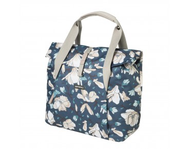 BASIL MAGNOLIA SHOPPER bicycle bag teal blue 18 l