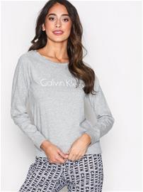 Calvin Klein Underwear Long Sleeve Curve Neck Pyjamat & Oloasut Harmaa