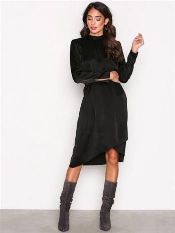 Filippa K Shiny Party Dress Kotelomekot Black
