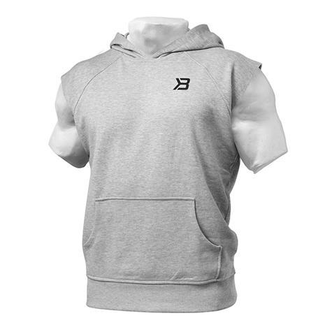 Hudson Shortsleeve Sweater, Greymelange, S