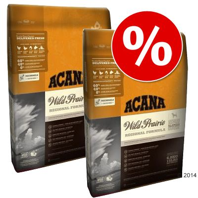 Acana-säästöpakkaus - 2 x 11,4 kg Prairie Poultry