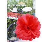 Basil Flower Peony for handlebar and frame red