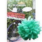 Basil Flower Dahlia for handlebar and frame green