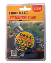 Finbullet 60/40 2mm 100g juotostina