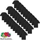 Fruit of the Loom T-paita 100% Puuvilla 30 kpl Musta XL