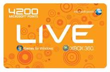 4200 Live points (Xbox 360)