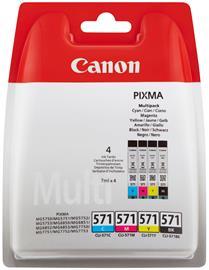 Canon CLI-571 C/M/Y/BK, mustekasetti