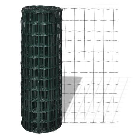 vidaXL Euro-aita 25x1,7 m 76x63 mm teräsverkolla