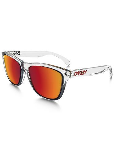 Oakley Frogskins OO9013-A5, Valkoinen, Materiaali Muovi, Miesten aurinkolasit