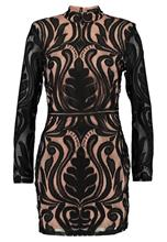 Missguided HIGH NECK BAROQUE MINI DRESS Juhlamekko black