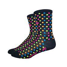 DeFeet Aireator Spotty sukat , musta/monivärinen