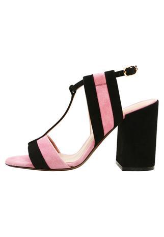 L'Autre Chose Korolliset sandaalit black/pink