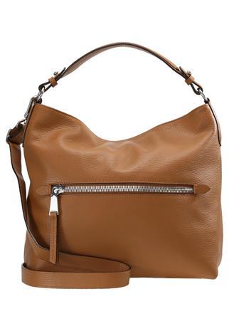 Abro Shopping bag cuoio/nickel