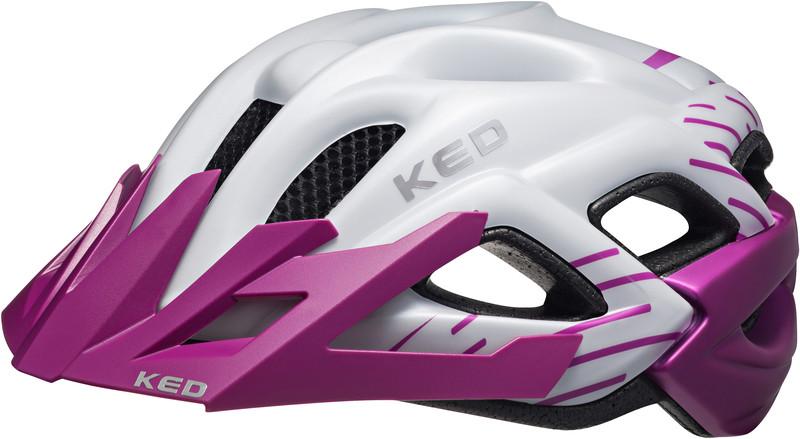 KED Status Lapset kypärä , violetti/valkoinen