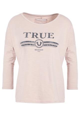 True Religion TRUE LOGO Pitkähihainen paita silver grey