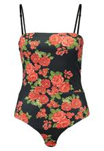 Missguided STRAIGHT NECK FLORAL Body black