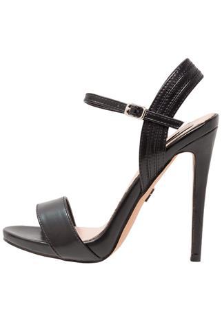 Lost Ink BLUEBELL ANKLE STRAP SANDAL Korolliset sandaalit black