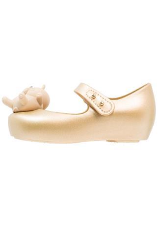Melissa MINI ULTRAGIRL CAT TWINS Ballerinat nilkkaremmillä gold glitter
