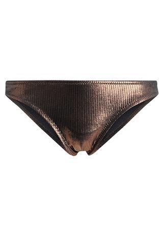 Topshop METALLIC HI LEG Bikinialaosa bronze