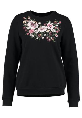 Dorothy Perkins EMBROIDERED Collegepaita black