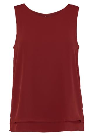 Zalando Essentials DOUBLE LAYER TANK Pusero red