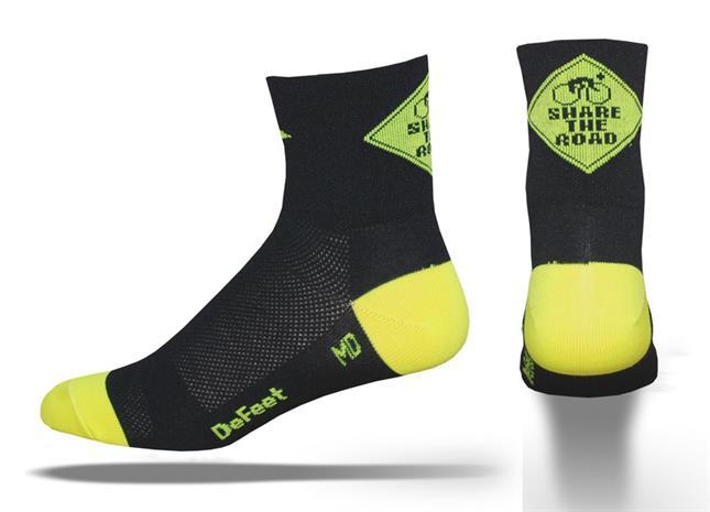 DeFeet Aireator Share the Road sukat , keltainen/musta