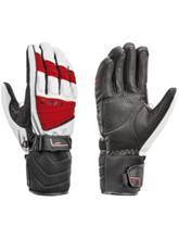 Leki Griffin S Gloves white / red Miehet