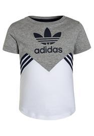 adidas Originals Printtipaita medium grey heather/white/collegiate navy