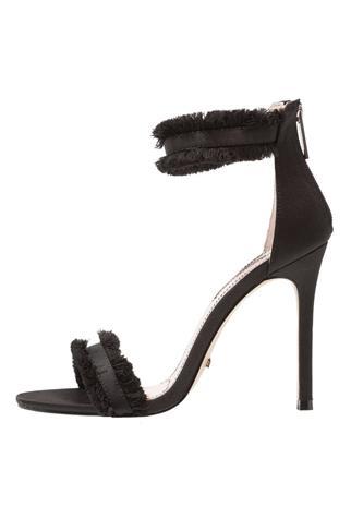 Topshop RILEY FRINGE Korolliset sandaalit black
