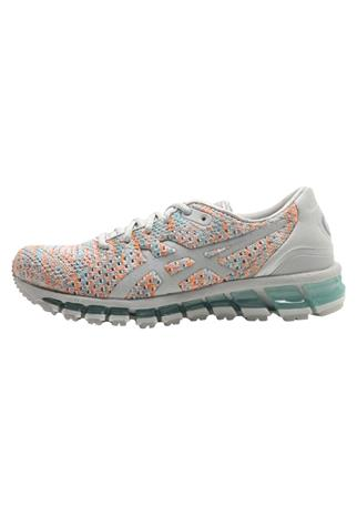 ASICS GEL QUANTUM 360 KNIT 2 Juoksukenkä/neutraalit glacier grey/orange pop/aruba