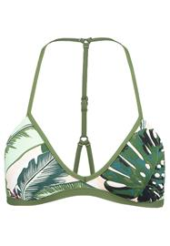 Seafolly PALM BEACH ACTION BACK TRI Bikiniyläosa moss