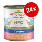 Almo Nature HFC -säästöpakkaus 24 x 280 g / 290 g - nauta & kinkku (290 g)