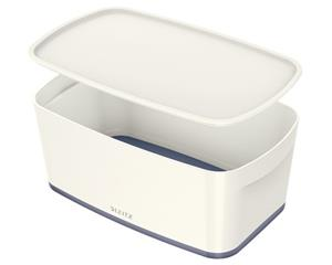 Leitz Storage Box Mybox With Cover Small White/gray