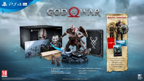 God of War Collector's Edition (2018), PS4-peli