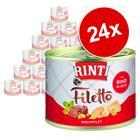 RINTI Filetto -säästöpakkaus 24 x 210 g - kana & sydän hyytelössä