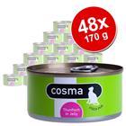 Cosma Original hyytelössä -säästöpakkaus 48 x 170 g - lajitelma: tonnikala, lohi, makrilli, sardiini ja kana
