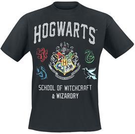 Harry Potter Hogwarts Crest T-paita musta