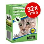 Bozita Chunks in Jelly -säästöpakkaus 32 x 370 g - lajitelma: kana + naudanjauheliha