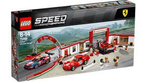 Lego Speed Champions 75889, Ferrarin huikea autotalli