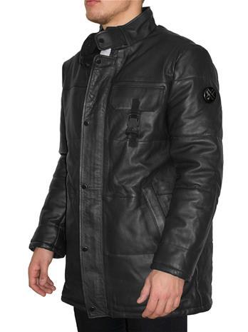 DDN Canana Ultra-Black Winter Coat XX-Large Premium Miesten Nahkatakki / Takki / Talvitakin 14 days free returns